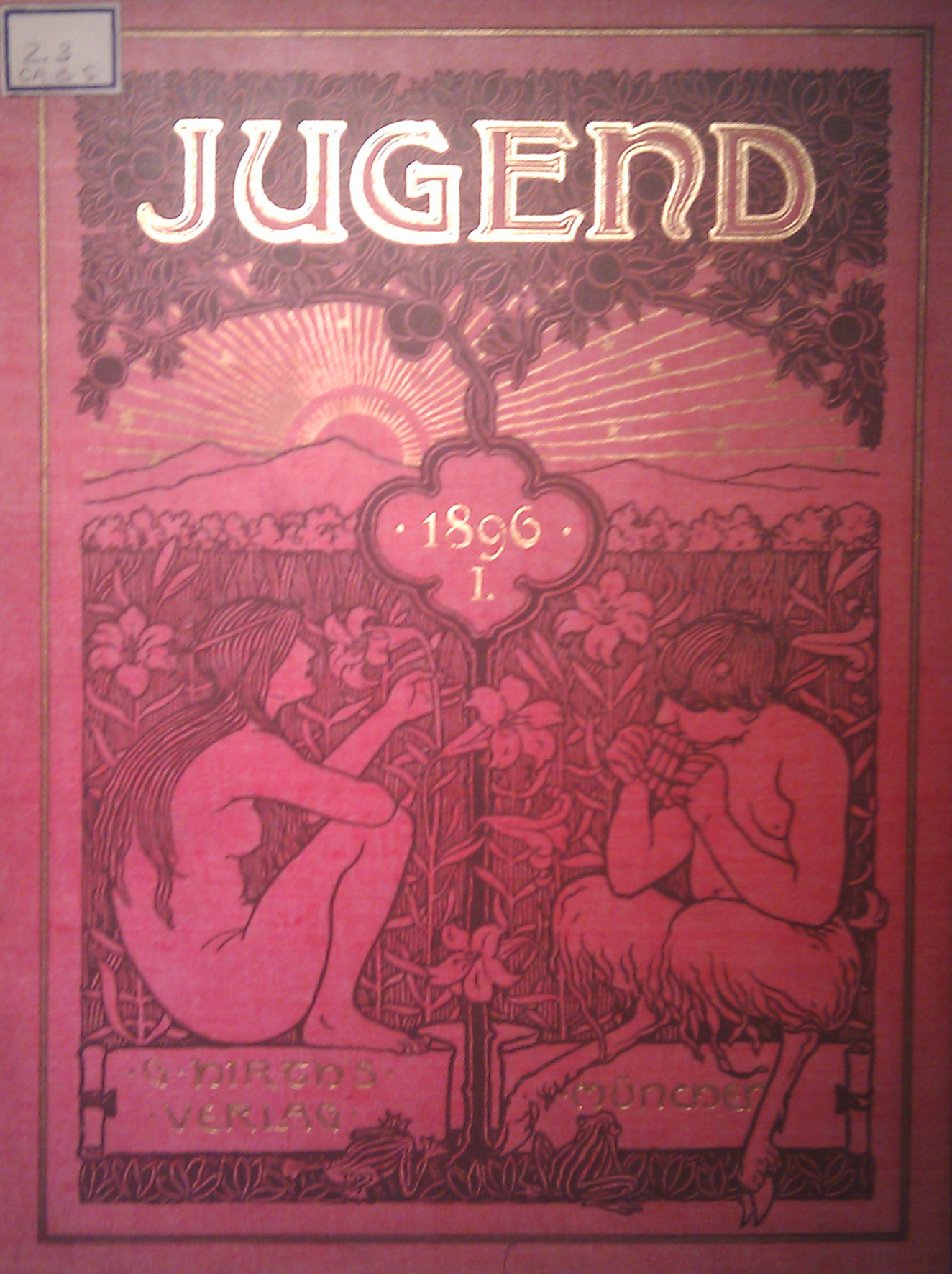 Image of the cover of the journal 'Jugend' No. 1 (1896), found at the Courtauld Institute of Art