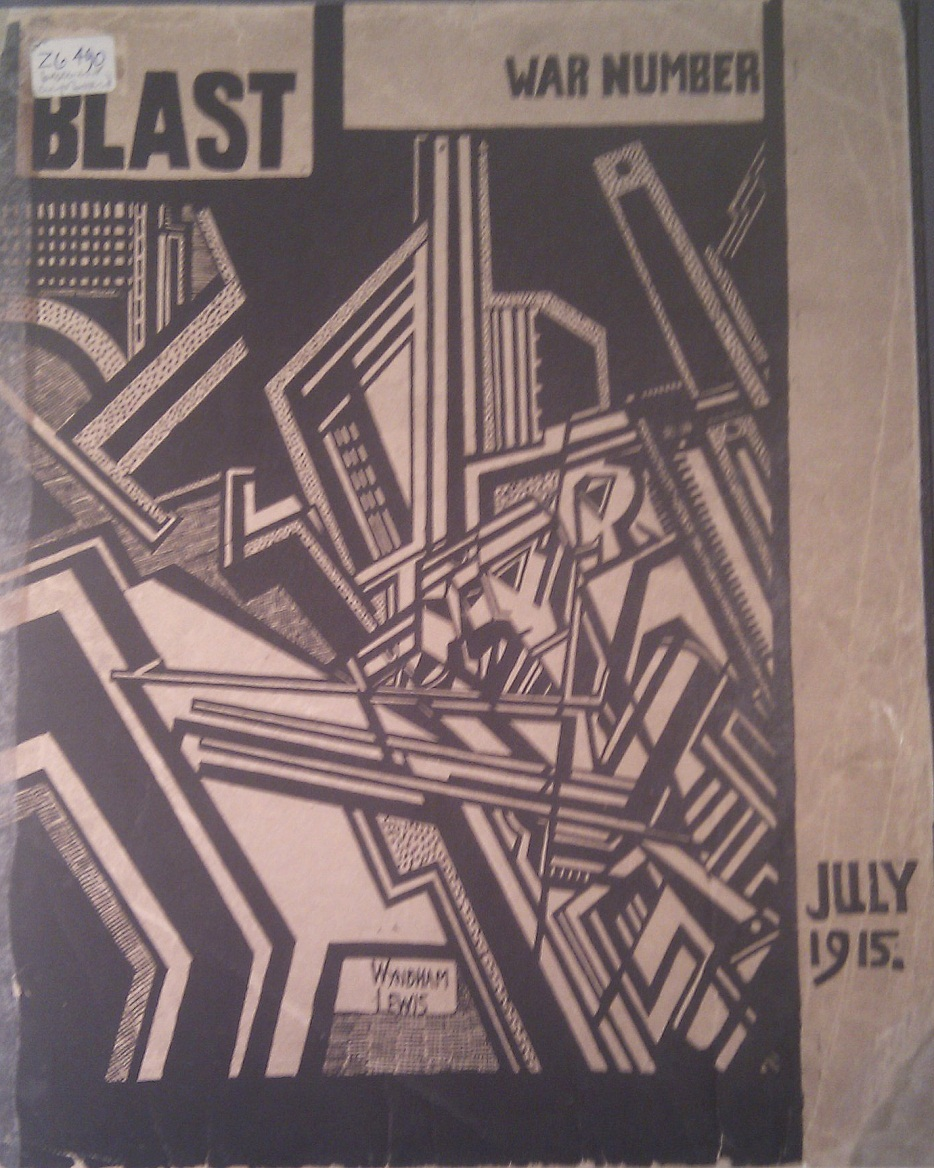 Image of the cover of journal 'Blast' No. 2 (1915) found at the Courtauld Institute of Art