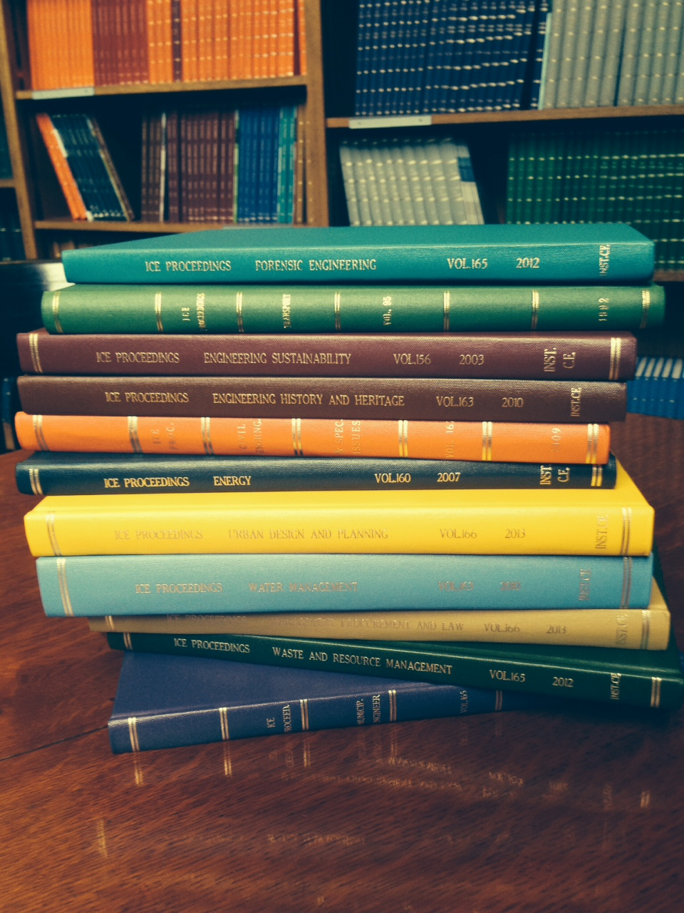 Some print journals found in ICE Library