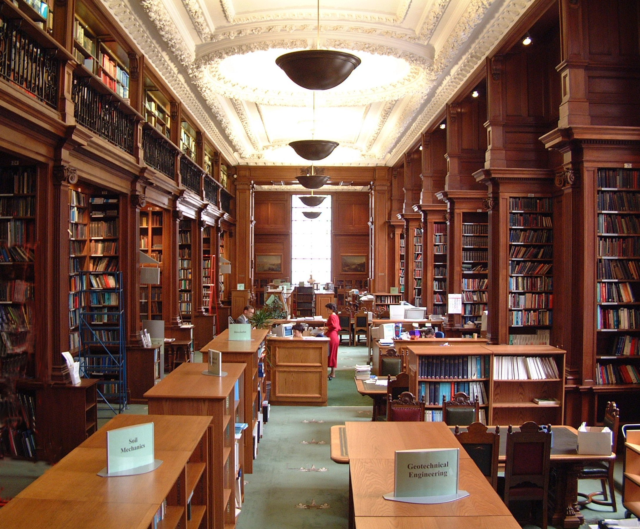 Interior of the Institution of Civil Engineers Library