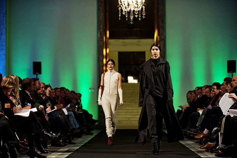 Image of two models in the Ny Nordisk mode, Catwalk Show, 2012.