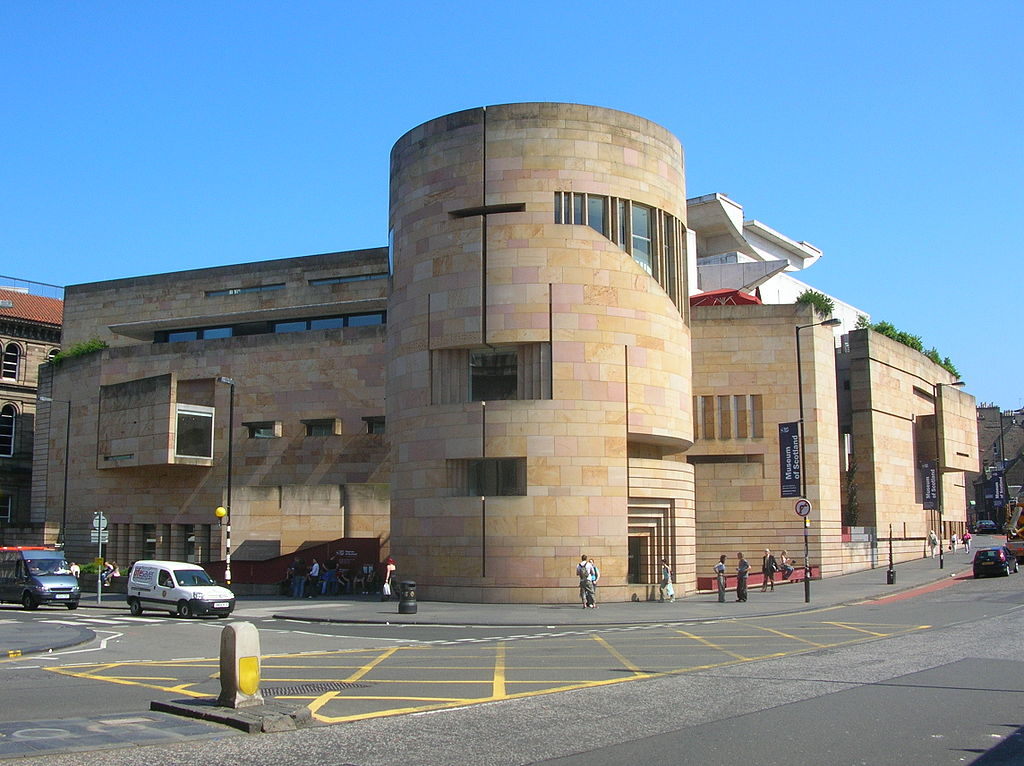 A photograph of the Museum of Scotland in Edinburgh.