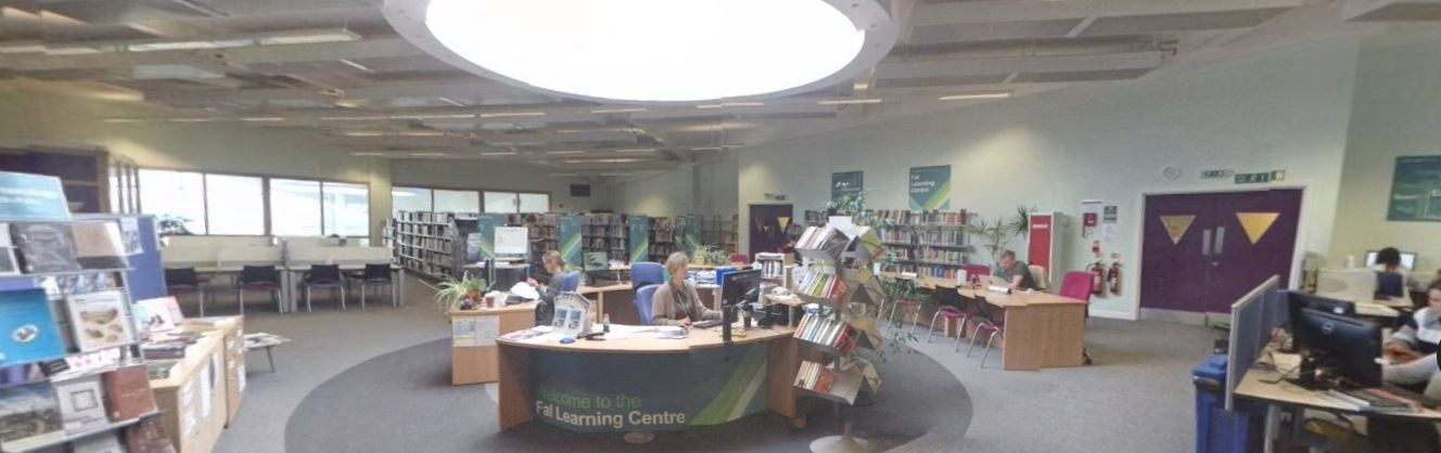 Interior of the Truro Campus Learning Centre