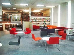 Interior of the Lampeter Campus Library