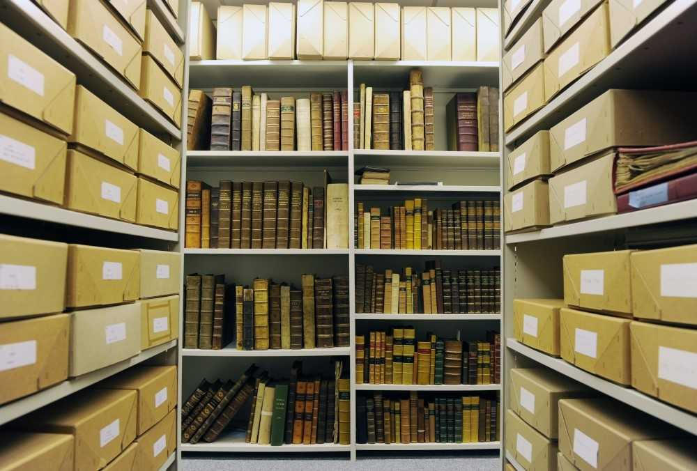Photograph of the Royal College of Physicians and Surgeons of Glasgow Library Store