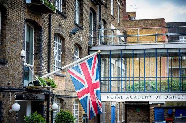 A photograph of the Royal Academy of Dance headquarters located in Battersea, London.